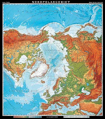 North Pole Map or Map of North Pole