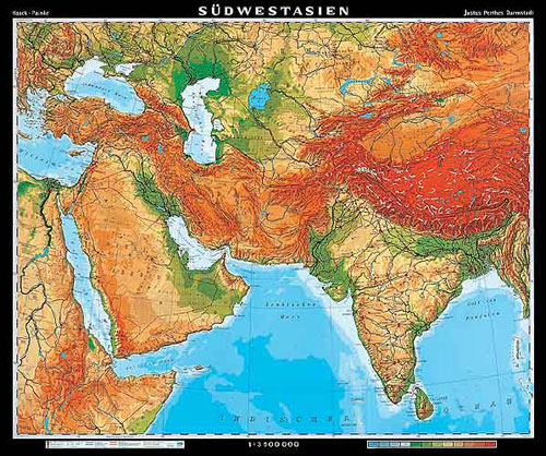 Map Of Southwest Asia Physical Features