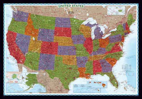 Usa Map Decorator Serie Or Map Of Usa
