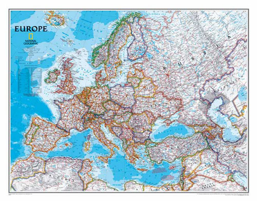 "Europe Map ""Classic"" Serie from National Geographic."