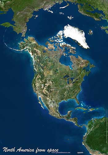 North America Map Or Map Of North America