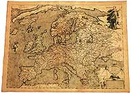 Antique map: Europe in 1602 (reproduction). Please click the image to see the item sheet.