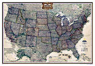 "USA Map ""Executive"" Serie. Please click the image to see the item sheet."