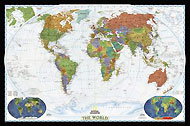 "World Map ""Decorator"" Serie from National Geographic."