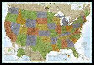 "USA Map ""Decorator"" Serie. Please click the image to see the item sheet."