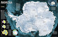 Antarctica (Satellite View) Map. Please click the image to see the item sheet.