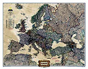 "Europe Map ""Executive"" Serie. Please click the image to see the item sheet."