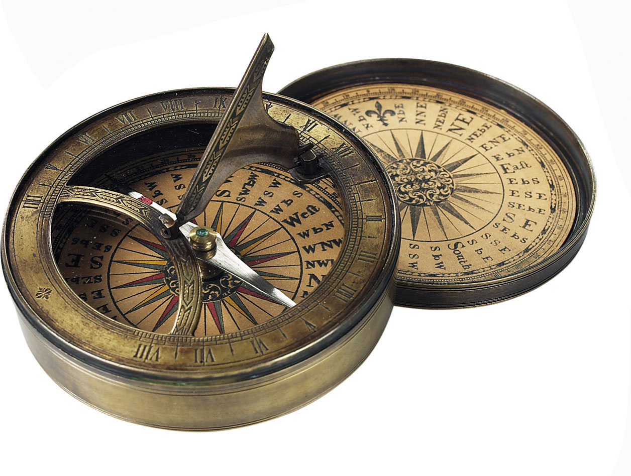 Antique Compass 18th C. and Sundial from AM.