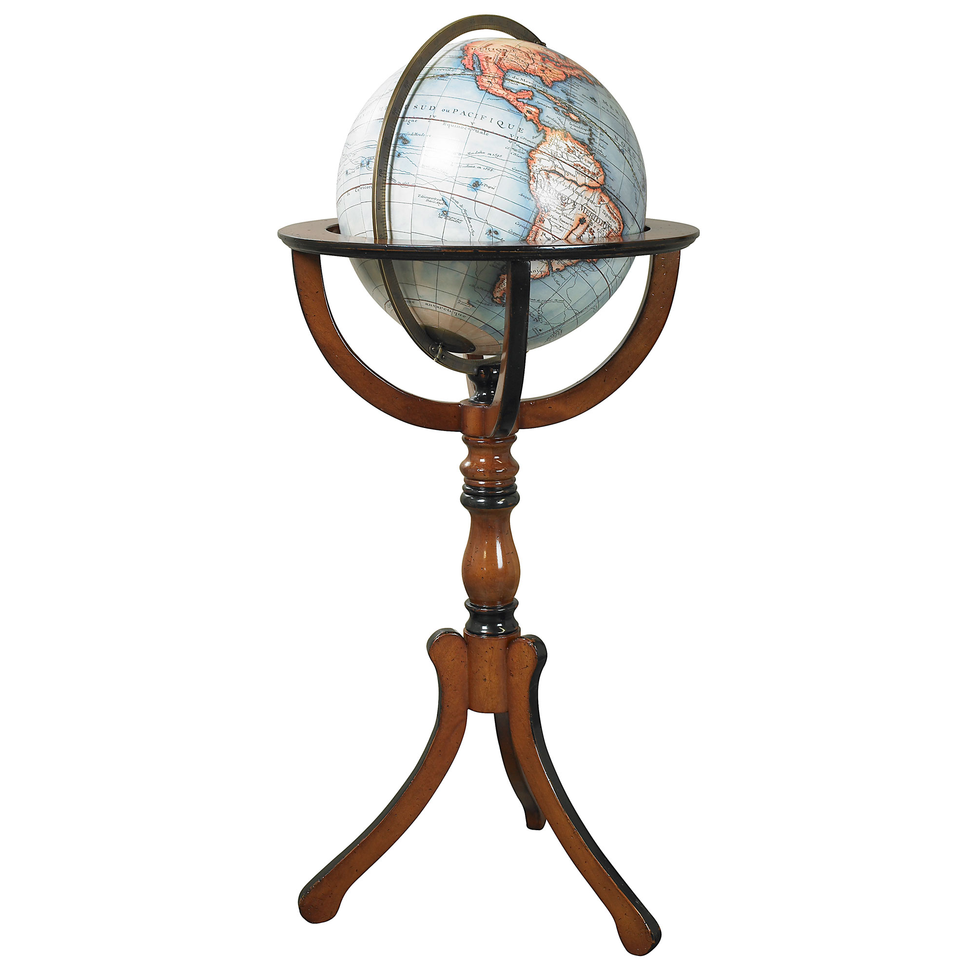 antique library globe reproduction or old globe or historical globe. Black Bedroom Furniture Sets. Home Design Ideas