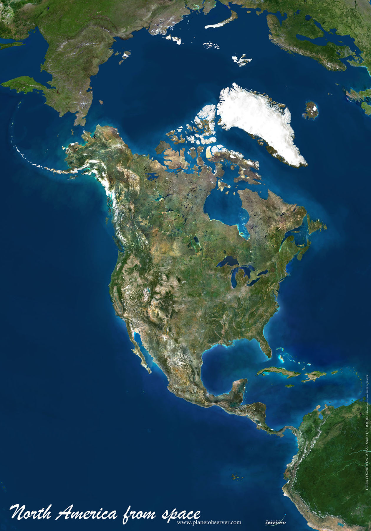 North America Map or Map of North