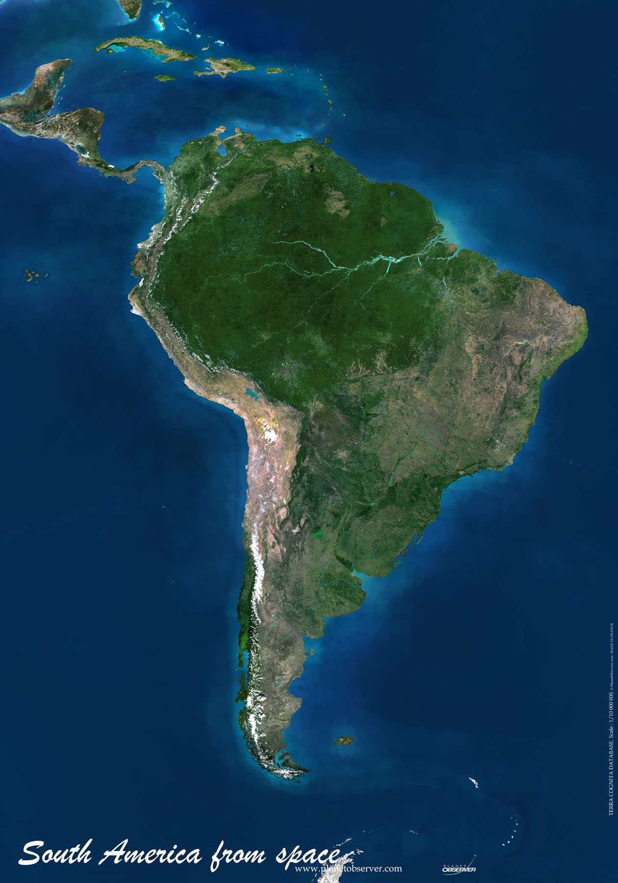 South America Map Or Map Of South America - Hd satellite map