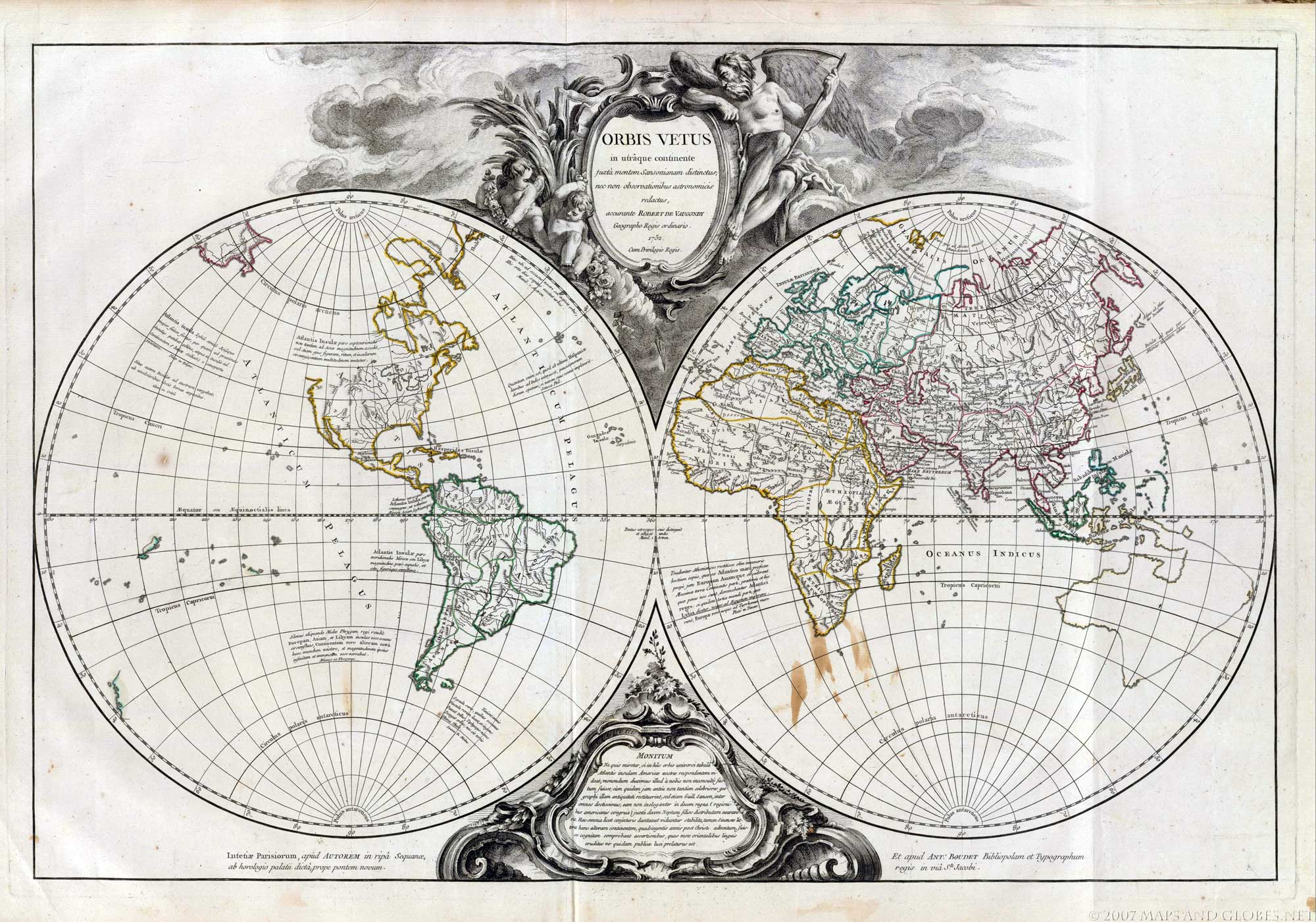 Antique globes or antique globe vaugondy 1745 reproduction gumiabroncs Gallery